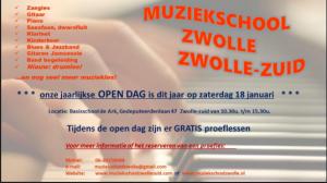 Open dag Muziekschool Zwolle Zuid op 18 januari @ Basisschool de Ark