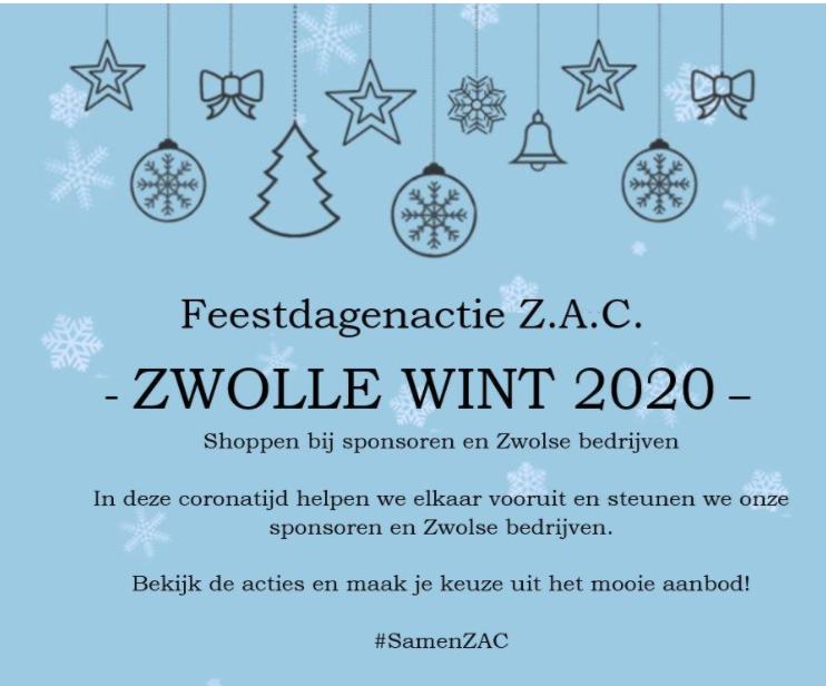 Feestdagenactie Voetbalvereniging ZAC, help de sponsoren en shop lokaal!