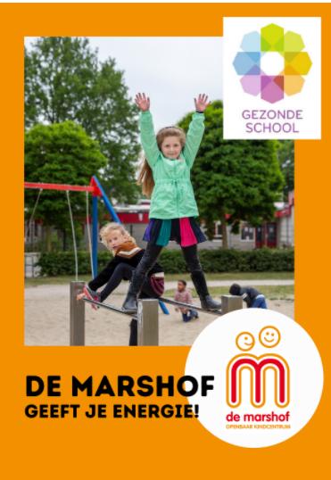 Vignet 'Gezonde School' voor OKC De Marshof Zwolle Zuid